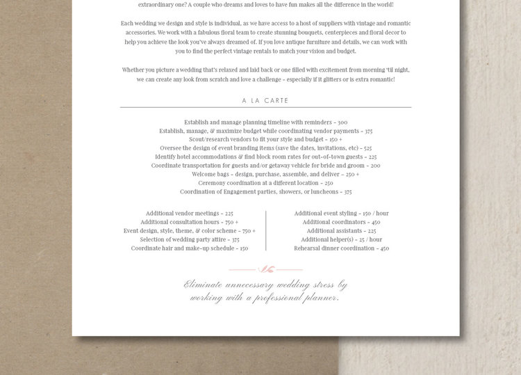 Wedding Planner Pricing Guide Template Eucalyptus – Bridal Party List Template