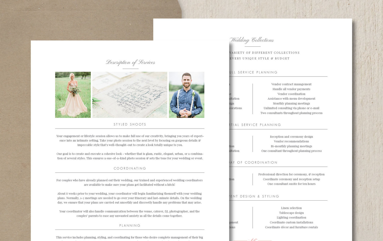 pricing brochure template