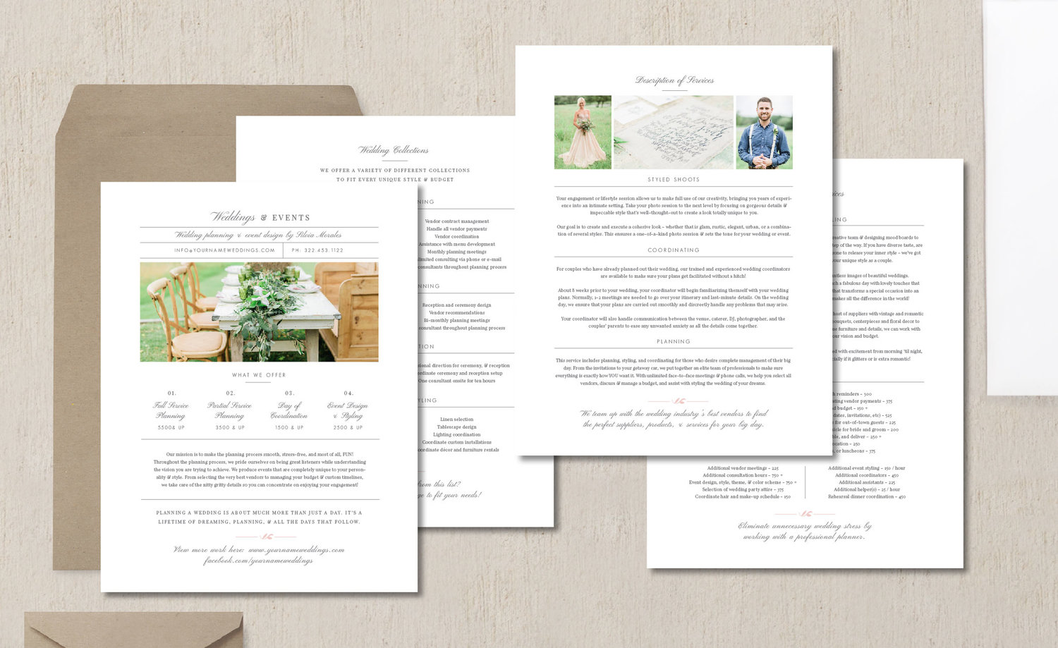 Wedding Planner Branding Kit - Eucalyptus