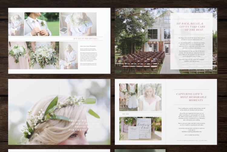 Wedding Photographer Studio Welcome Packet - Laurel