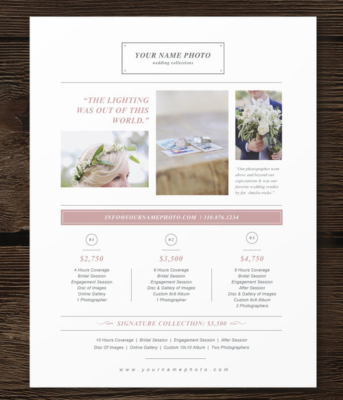 Photography Pricing Guide Template Laurel