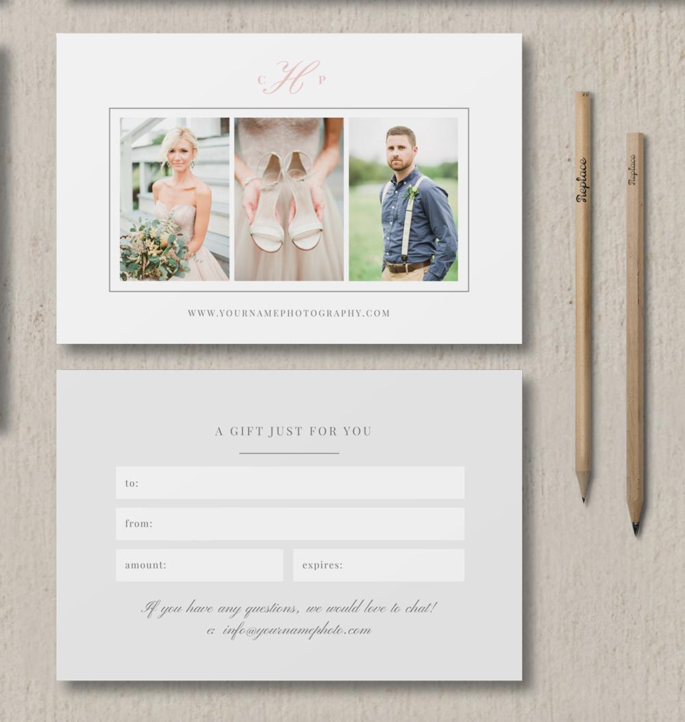 Photographer Gift Card Template Eucalyptus