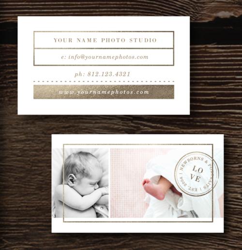Gold foil business card design lily colourmoves