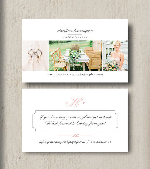 Wedding photographer business card template eucalyptus flashek Choice Image