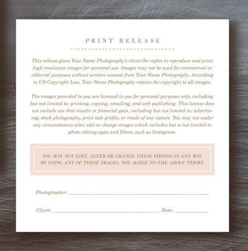 Bittersweet Design Boutique – Print Release Form