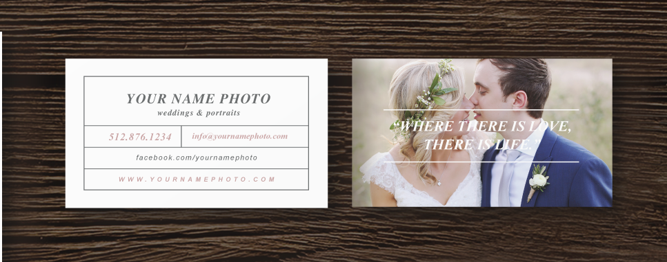 Photographer business card template laurel accmission Image collections