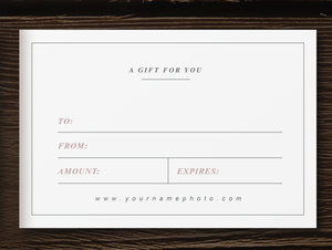 Photographer gift card template laurel pronofoot35fo Choice Image
