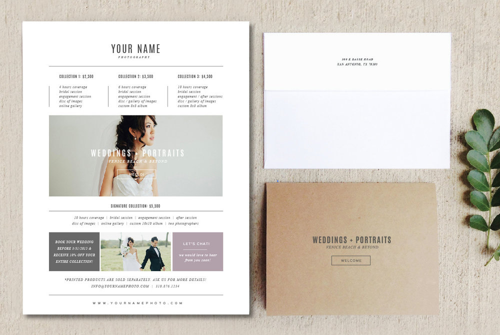 Bittersweet Design Boutique  Pricing Sheet Template