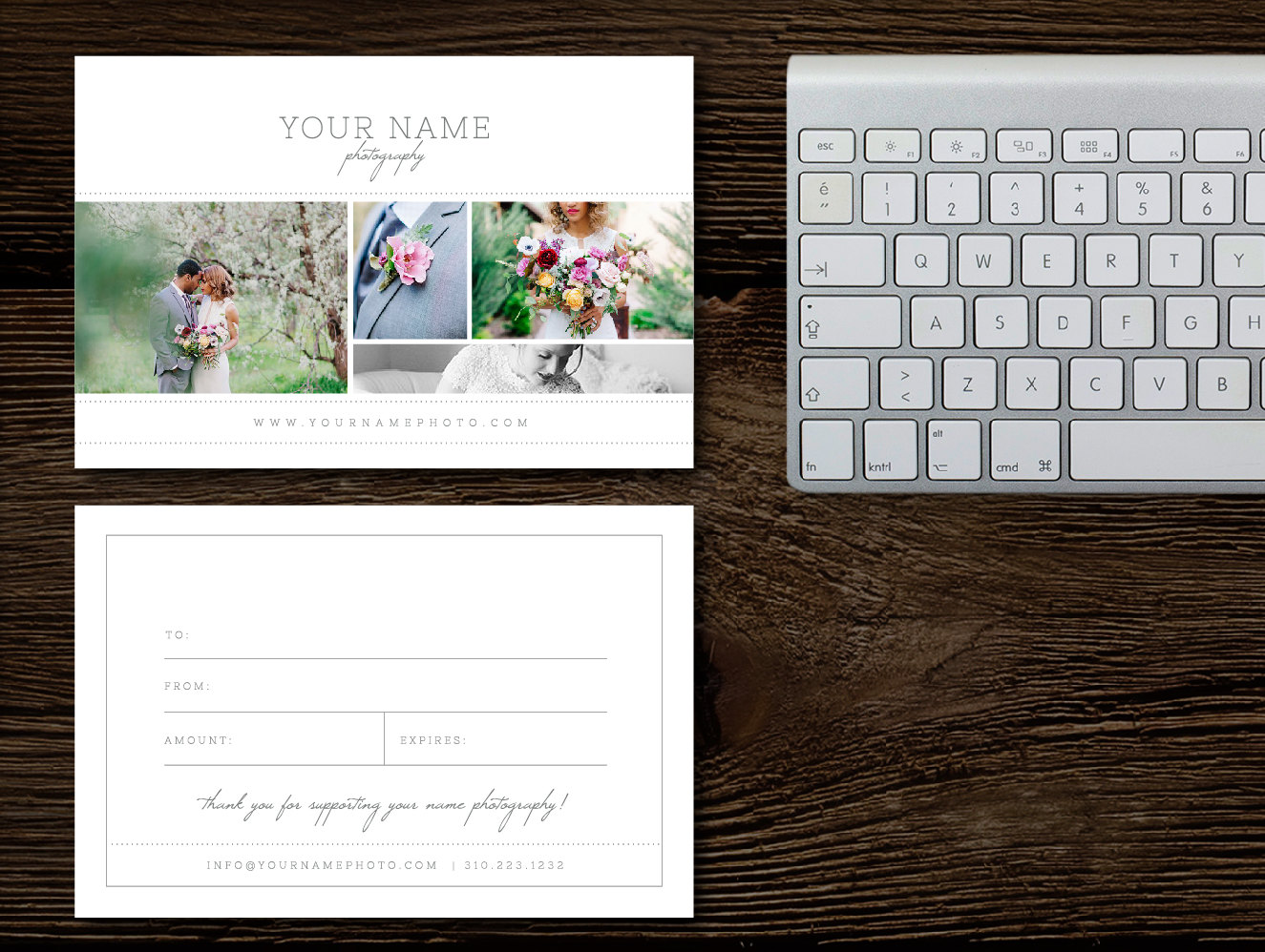 Photography Gift Card Templates Gift Cards For Wedding