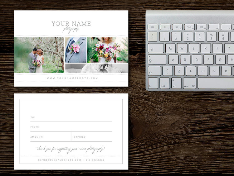 photography gift card templates gift cards for wedding photographers wedding photographer branding