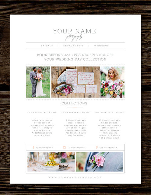 Photography Price List Template Pricing Guide Templates