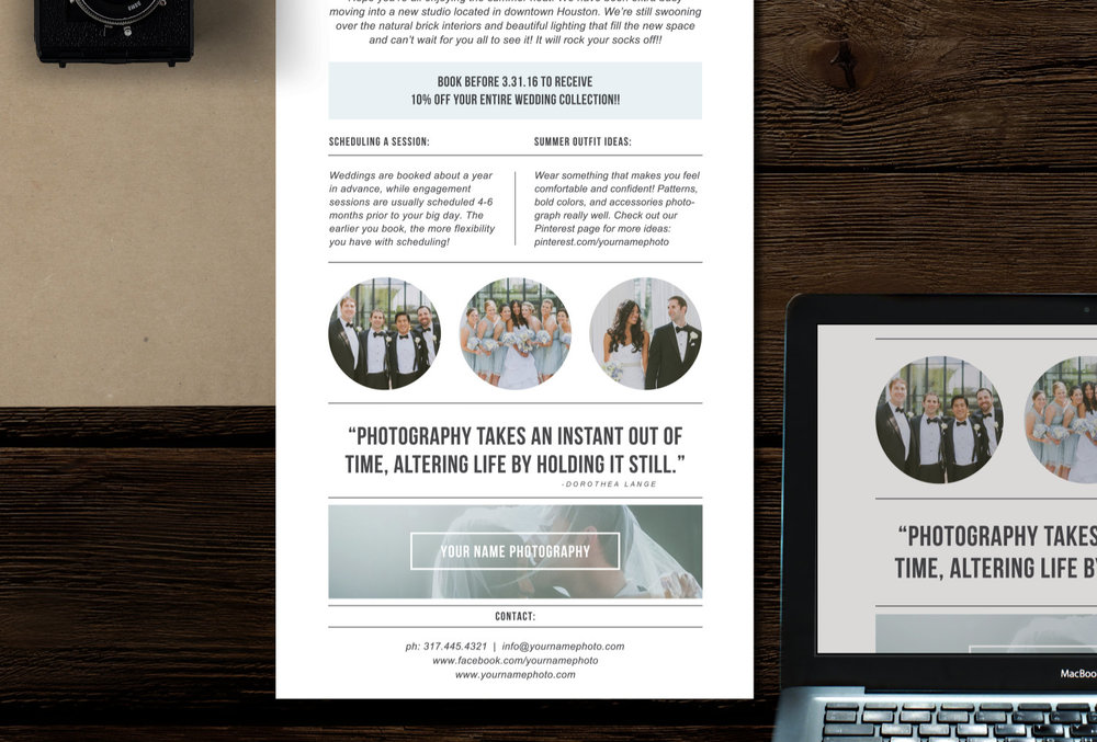photography newsletter template for email pinterest minimal