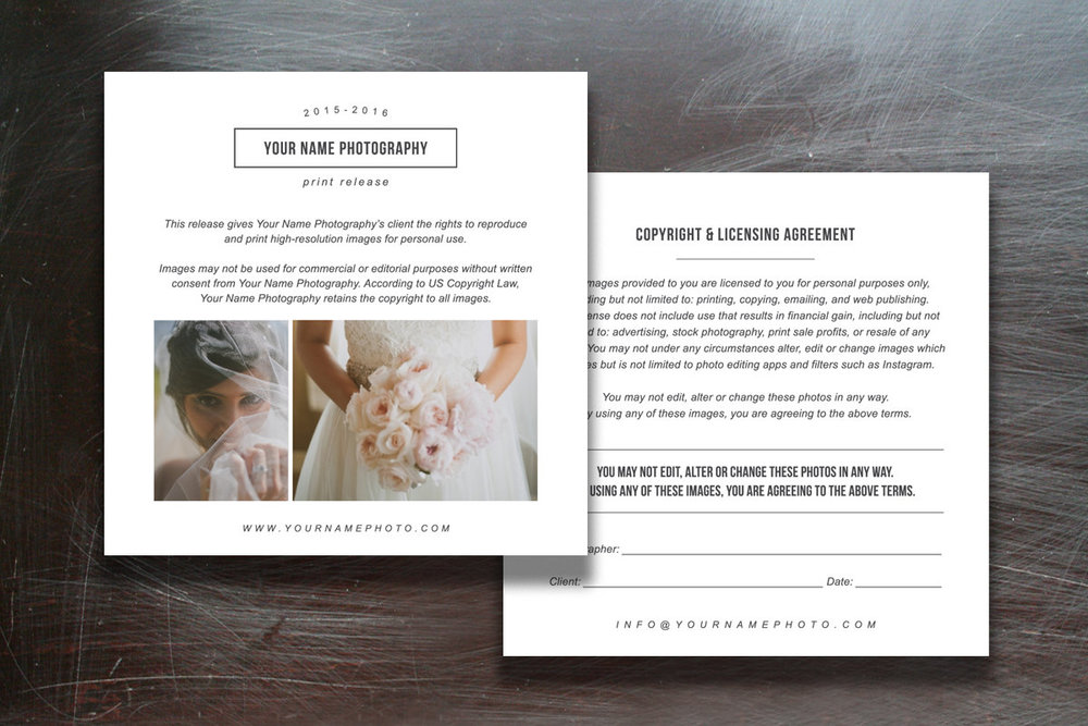 Print Release Templates Photo Marketing Copyright Agreement For