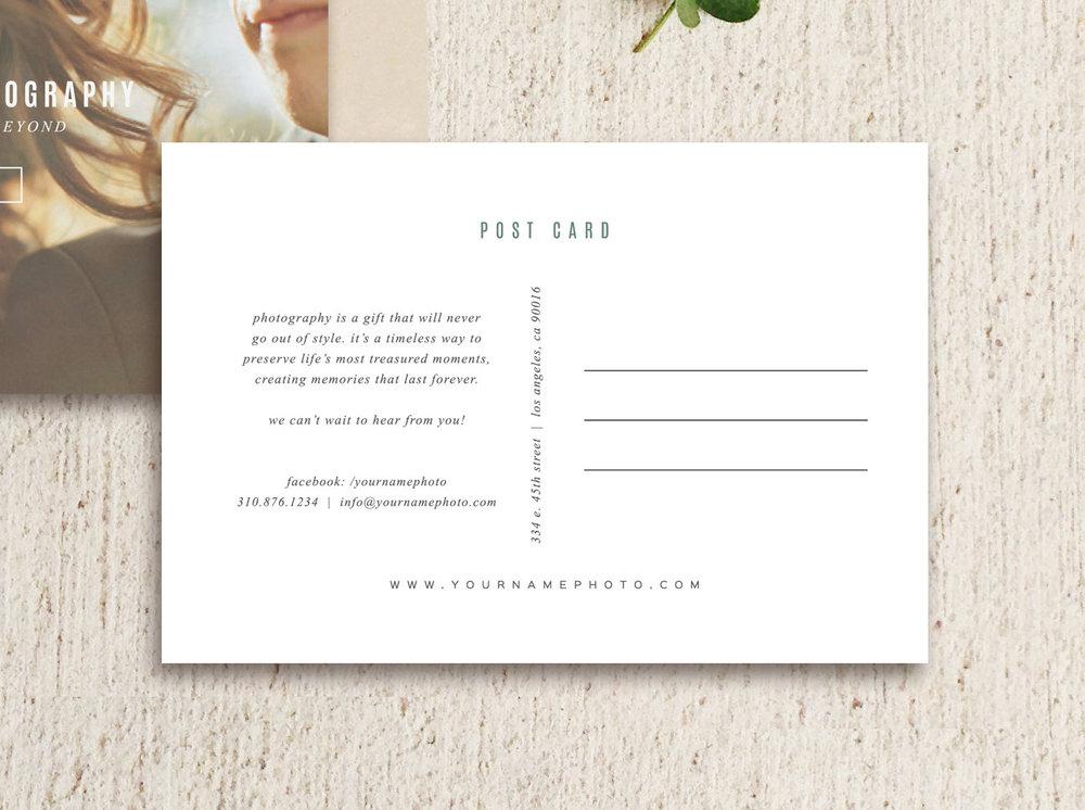 vintage postcard template photo marketing digital download wedding photography photoshop template m0163