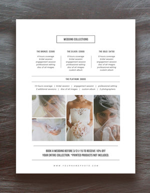 photographer pricing guide set wedding magazine price list templates album pricing pricing guide templates