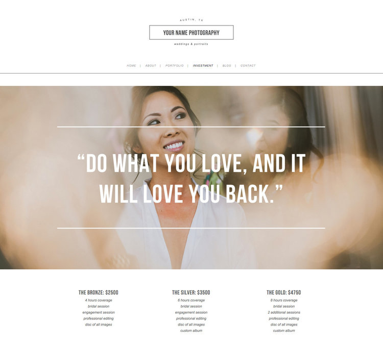 Squarespace Design Kit for Photographers & Creatives - Photographer ...