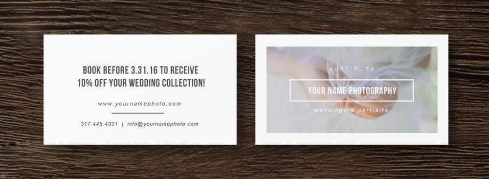 Conosciuto Business Cards for Photographers & Photoshop Users - Minimal MZ86