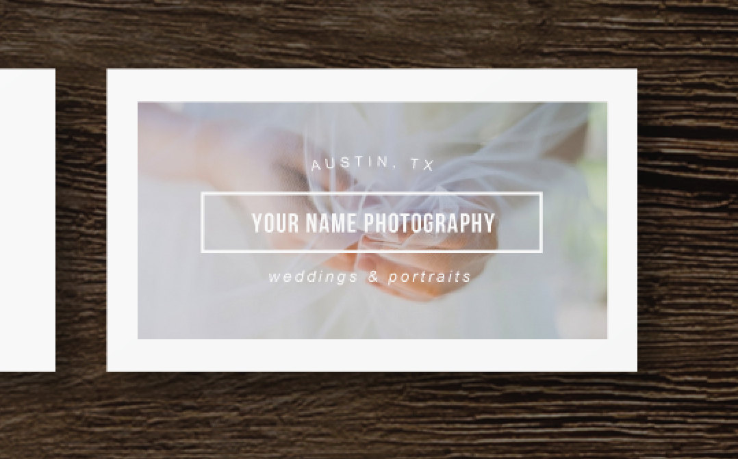 business cards for photographers photoshop users minimal