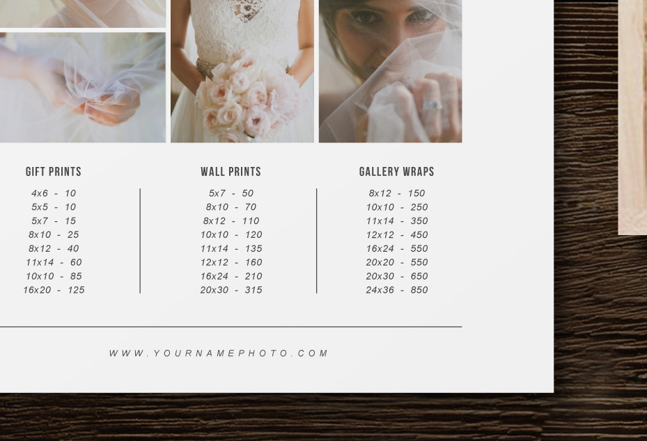 Bittersweet Design Boutique – Wedding Price List