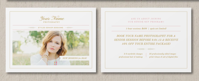Mini Session Template Graduation Cards Senior Photography - Mini session templates
