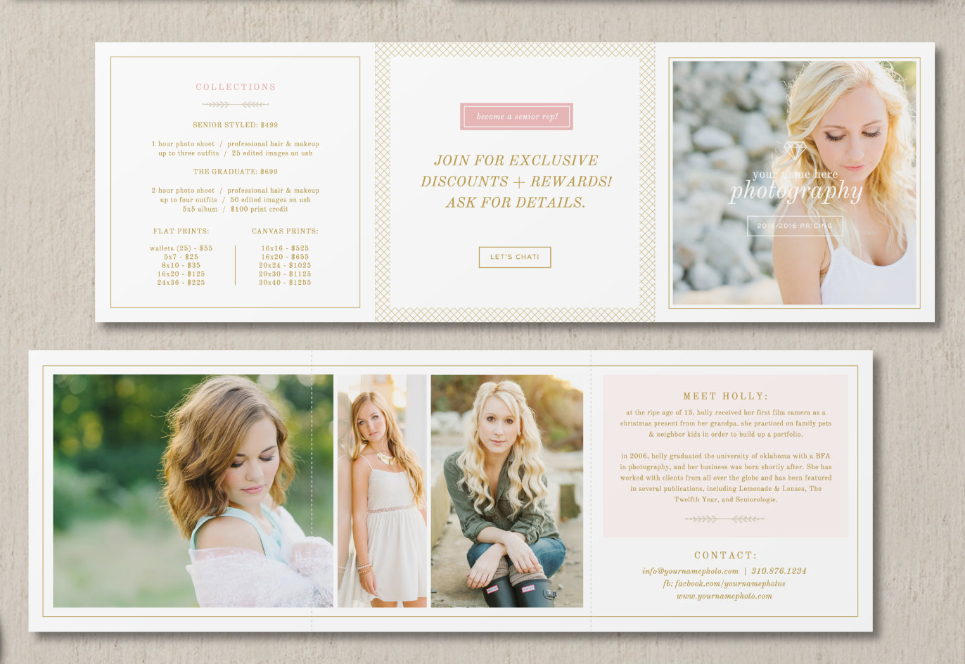 Photography Price Template - Digital Pricing Guide - Photographer Price List