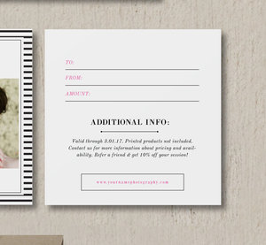 Gift card design for wedding portrait photographers photography gift card design for wedding portrait photographers photography gift certificate template yelopaper Image collections