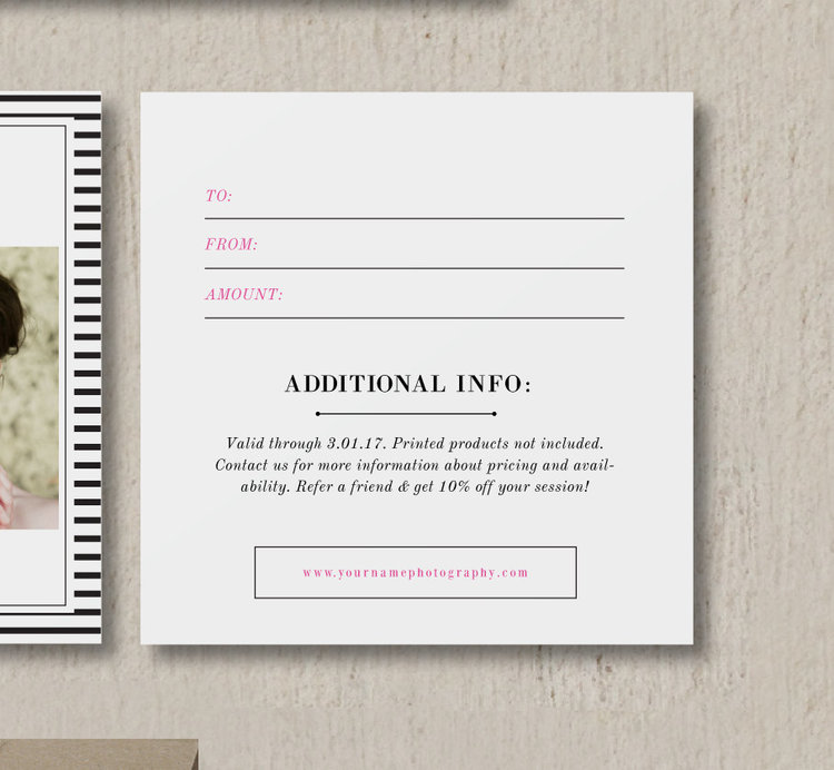 Bittersweet Design Boutique – Wedding Gift Certificate Template