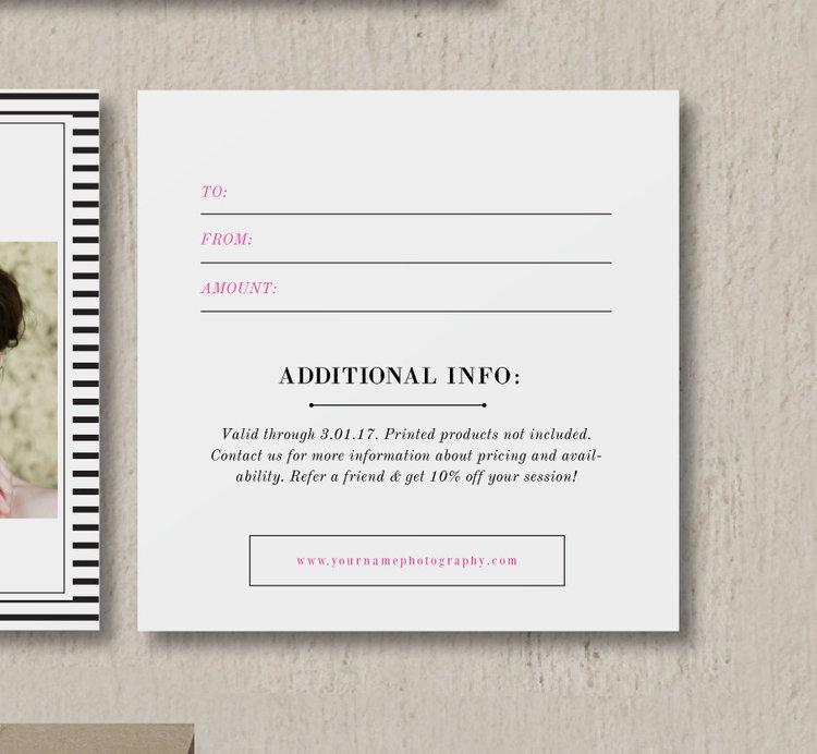 Bittersweet Design Boutique – Wedding Gift Certificate Template