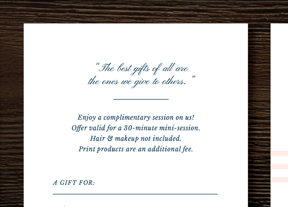Photography Gift Certificate Template   Gift Card Template For  Photographers   Photoshop Marketing Design  Gift Card Templates