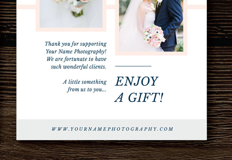 Photography Gift Certificate Template - Gift Card Template For