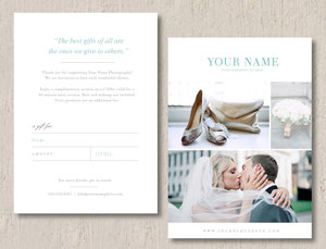 Wedding photographer gift card template monterey yadclub Choice Image
