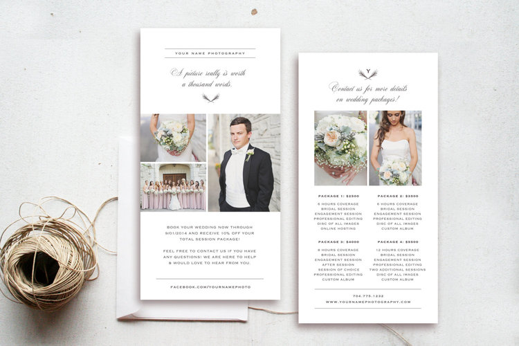 Pricing Guide Template  Wedding Photographer Pricing Guide  Rack