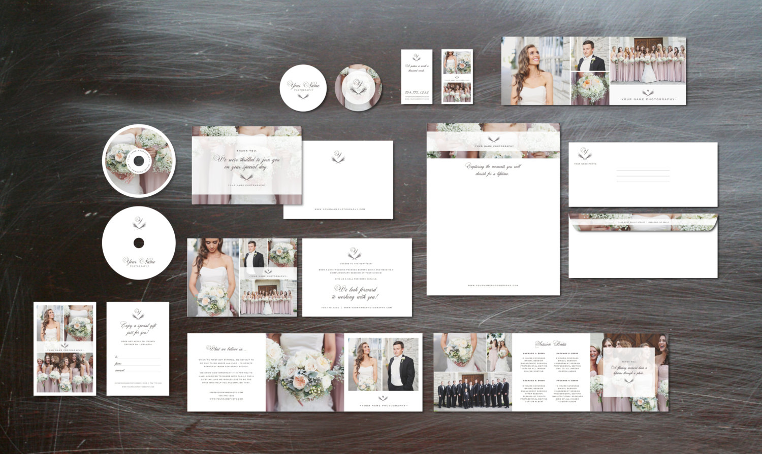Photography Marketing Set Templates for Wedding Photographers