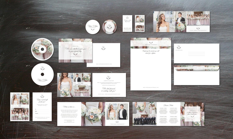 Photography Marketing Set Templates for Wedding Photographers