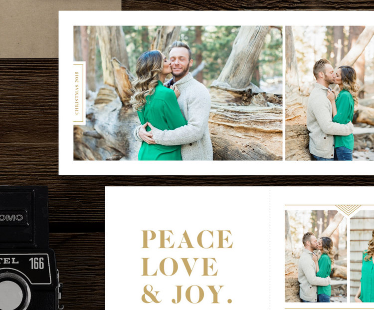 christmas card templates for photographers 5x5 trifold - Christmas Card Templates For Photographers