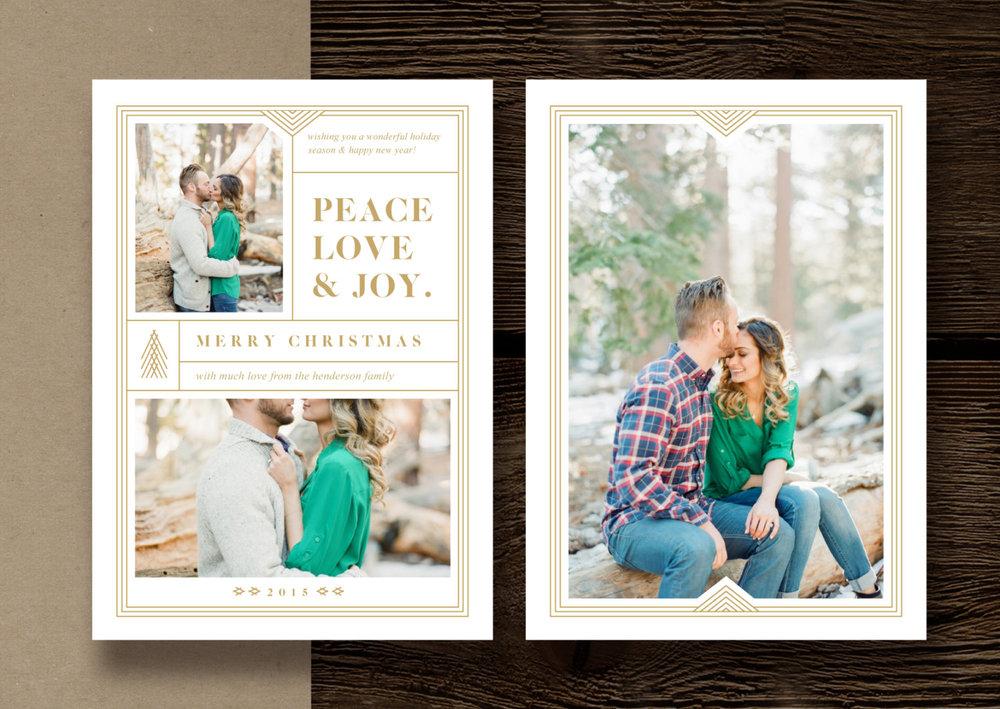 Christmas Card Templates for Photographers - 5x7 Photography Press Card