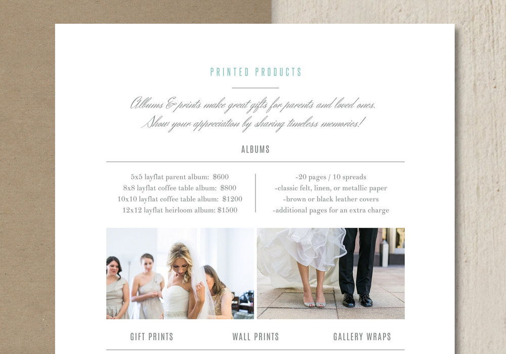 Photography Pricing Template   Product Pricing Guide Templates    Photographer Price List   Wedding Pricing