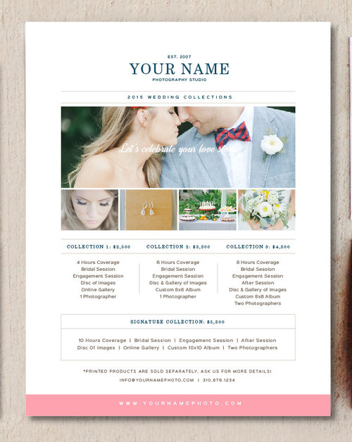 Photography pricing template wedding photographer price list photography pricing template wedding photographer price list pricing guide pronofoot35fo Gallery