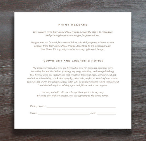 print release template