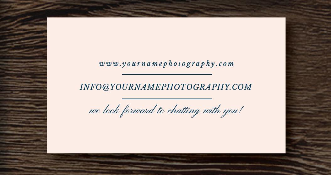 Photographer Business Card Template - Lorelei