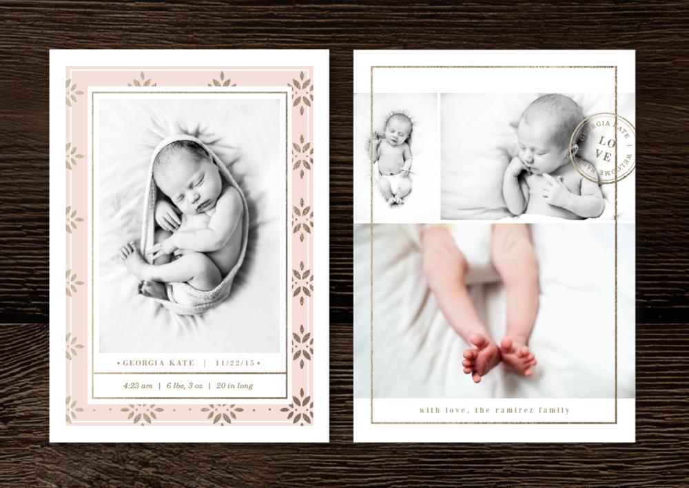 Newborn marketing set for photographers.
