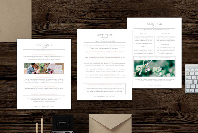 Photography Welcome Packet and Magazine Template - Cambria