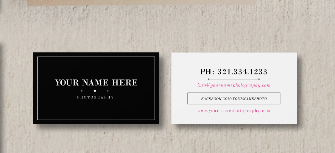 Wedding Photographer Marketing Set - Business Card Template ...