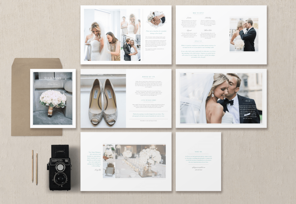 Magazine template for photographers planners photographer welcome packet photography price list pricing guide template