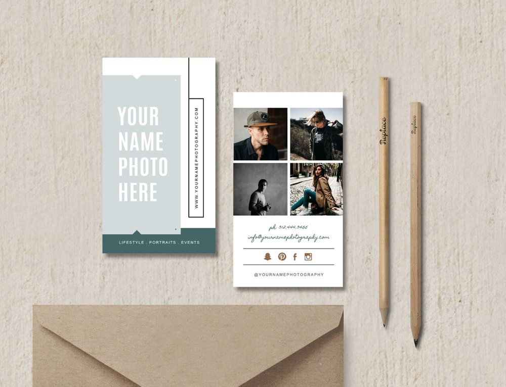 Modern business card template elm accmission Choice Image