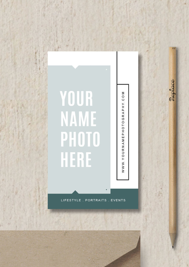 Modern business card template elm accmission Images