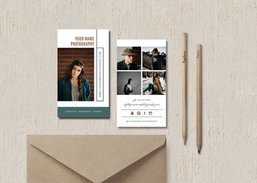 Wedding photographer business card photography marketing templates portrait photographer business card template photographer card design bittersweet designs fbccfo Gallery
