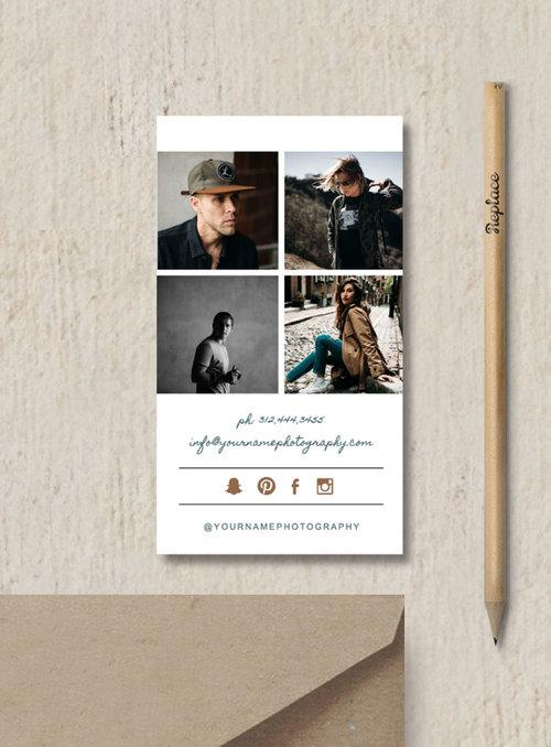 Photography business card template elm friedricerecipe Choice Image