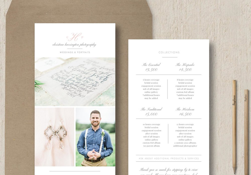 Photographer Rack Card Template  Eucalyptus
