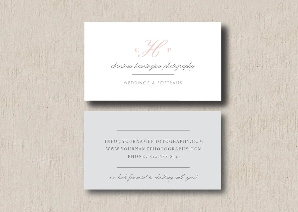 Wedding photographer business card template eucalyptus friedricerecipe Images
